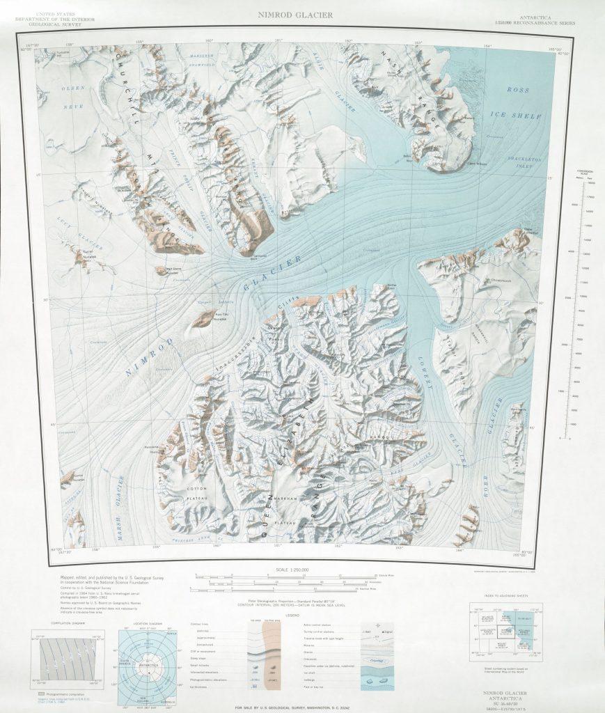 Nimrod Glacier 1:250,000 topographic map (USGS)