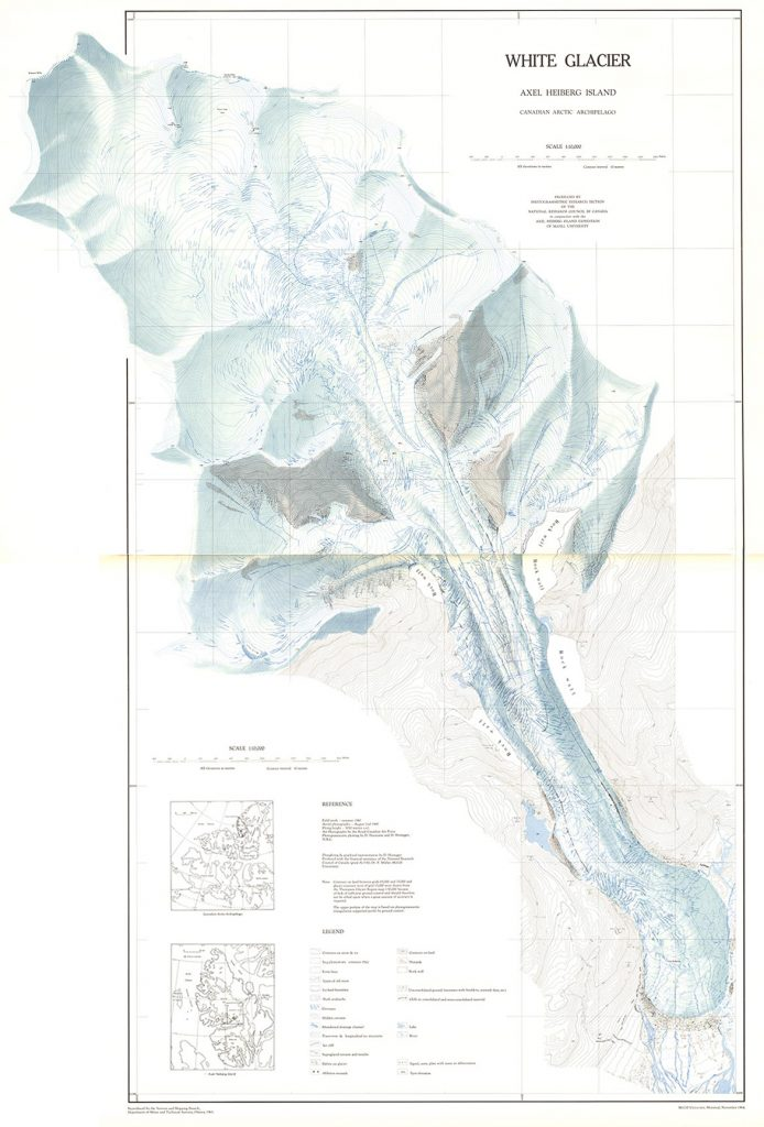Haumann and Honegger (1964):White Glacier, Canada