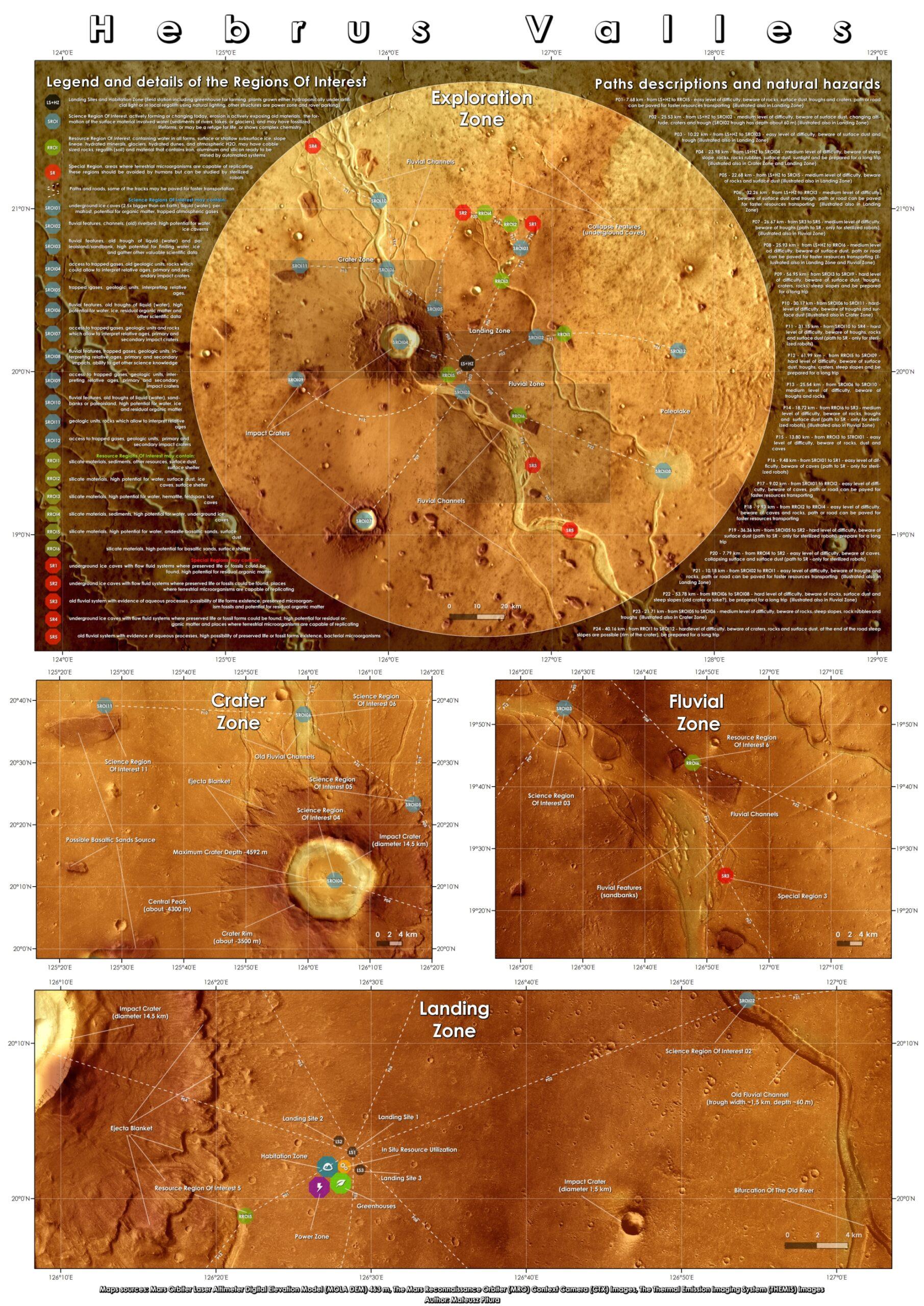 Hebrus Valles Map